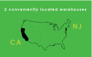 california new jersey warehouse service map